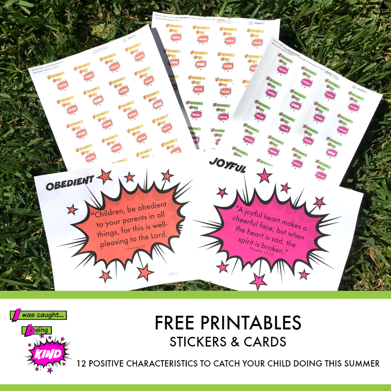 Free Printables Caught Being Kind...
